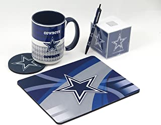 Dallas Cowboys Work Station, Computer, Set. Includes Large Coffee Mug, Neoprene Coaster and Mouse pad, Retract The bullpen and a 1000 Sheet Paper Cube. 5 Peace Set.