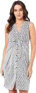 Ripe Maternity Women's Chevron Caress Dress, Black/White