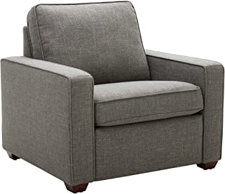 """Amazon Brand – Rivet Andrews Contemporary Chair with Removable Cushions, 40""""W, Dark Grey"""
