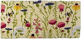 """Trade Associate Group Bee Wildflower Natural Coir Doormat Indoor Outdoor Spring Easter Summer Welcome Mat 40""""x18"""" 1'6"""" x ..."""