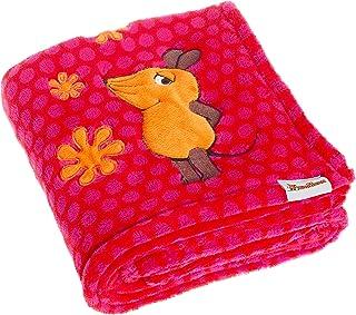 Playshoes Baby und Kinder Fleece-Decke, vielseitig nutzbare Kuscheldecke für Jungen und Mädchen, 75 x 100 cm, mit Maus-Motiv