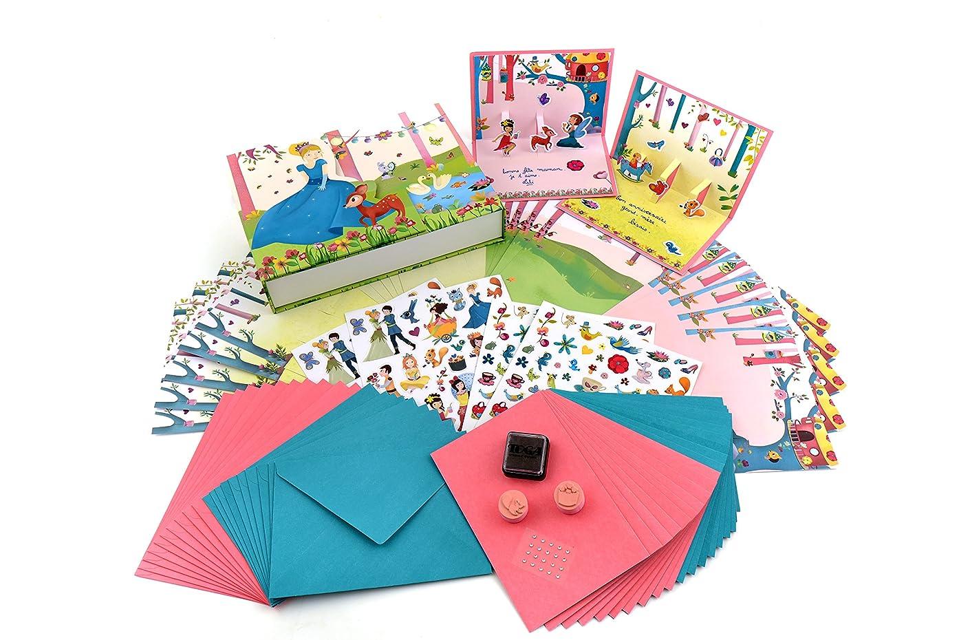 Téo et Zina ktz07?Princess Kit carterie Paper Design 23.5?x 16?x 4.5?cm