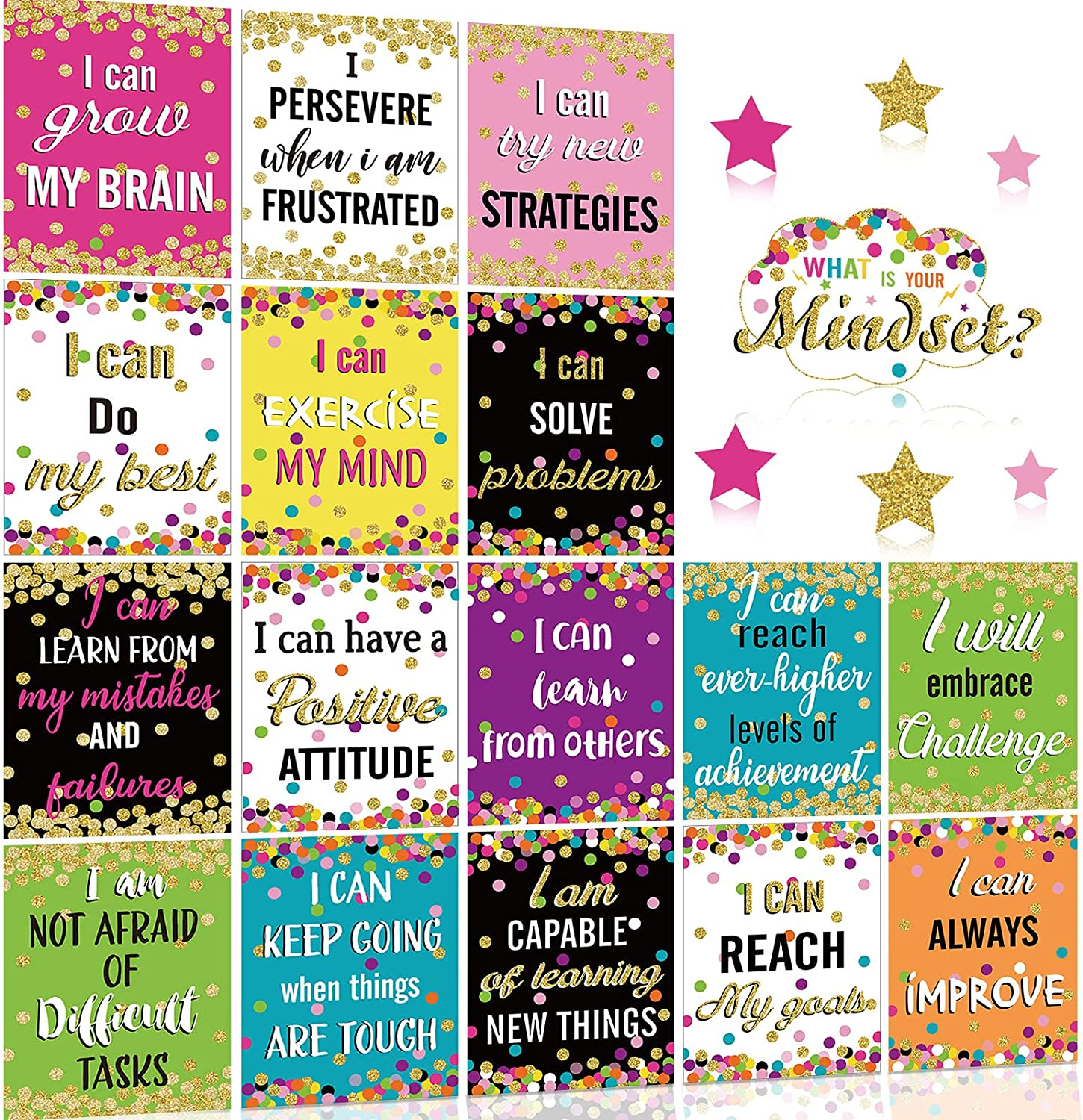 Growth Mindset Posters Set Bulletin Decorations Board Display low-pricing wholesale Po