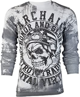 Affliction Archaic Mens Thermal Shirt Racer American Customs
