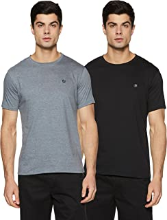 Amazon Brand - Symbol Men's Solid Regular fit T-Shirt (Pack of 2)