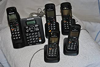 Panasonic KX TG6641B Cordless phone with 4x extra Handset