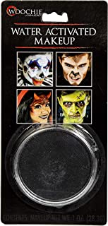 Woochie Water Activated Makeup - Professional Quality Halloween and Costume Makeup - (Black, 1.0 oz)