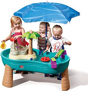 Step2 Splish Splash Seas Water Table | Kids Water Table with Umbrella & 10-Pc Accessory Set