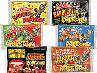 ASS KICKIN' Premium Microwave Popcorn – Variety Gift Pack (6) - Ultimate Spicy and Sweat Gourmet Gift - Try if you dare!