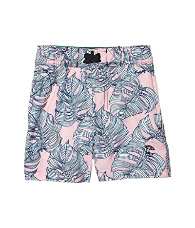 shade critters Swim Trunks Leaf Print (Infant/Toddler) (Pink) Boy