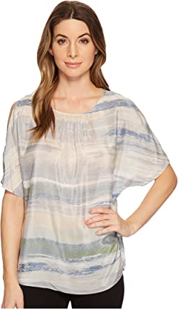 NIC+ZOE - Watercolor Cold Shoulder Top