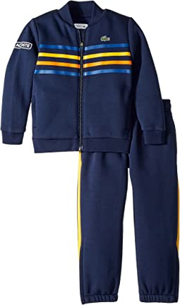 Lacoste Kids - Fleece Player Collection Tracksuit (Little Kids/Big Kids)