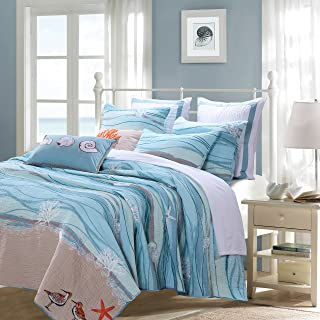Greenland Home Maui Bonus Quilt Set, 4-Piece Twin,