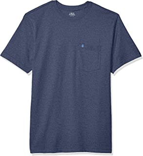 IZOD Men's Saltwater Short Sleeve Solid T-Shirt with Pocket