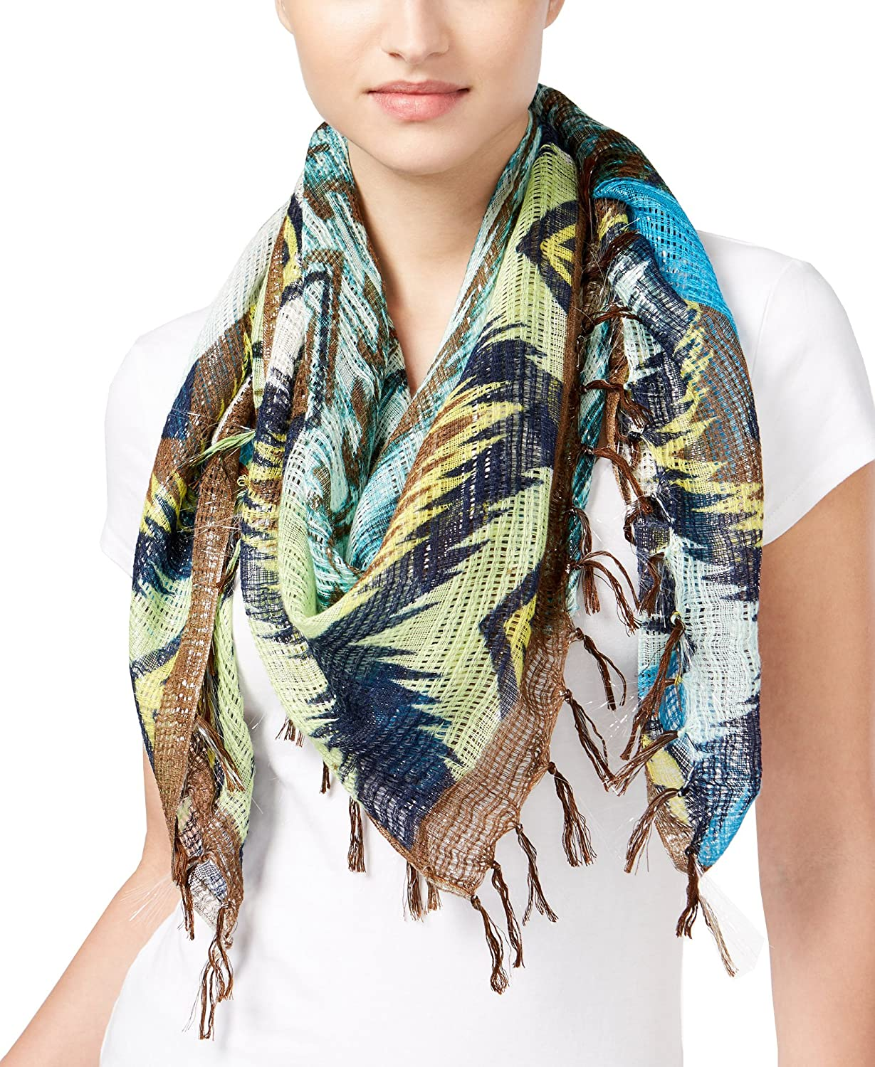 Collection Xiix Women's Aztec Square Scarf,Multi,One Size