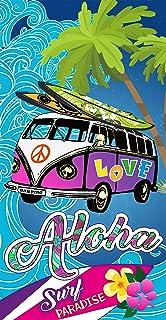 Miracle Home Toalla Microfibra Playa Aloha, Multicolor, 75 x 145 cm
