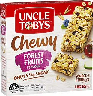 Uncle Toby's Chewy Muesli Bar, Forest Fruits, 185g
