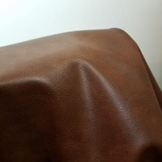 Tan Brown Matte {Peta Approved Vegan} Faux Leather by The Yard Synthetic Pleather 0.9 mm Casual Distressed Smooth Nappa 1 Yards 52 inch Wide x 36 inch Long Smooth Vinyl Upholstery (1 Yard (52