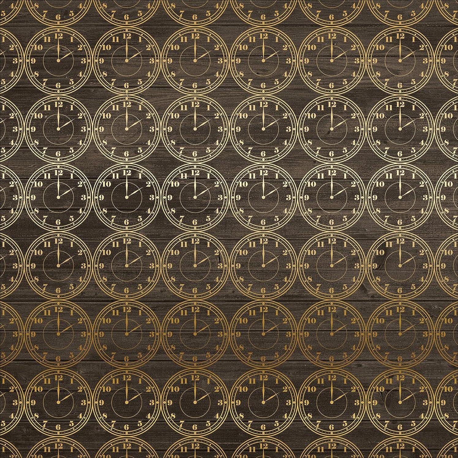 Echo Park Paper PS104051 Petticoats & Pinstripes Foiled Cardstock (15 Sheets Per Pack), 12