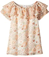 Flower Print Ruffle Dress (Little Kids/Big Kids)