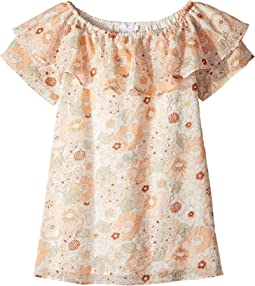 Chloe Kids Flower Print Ruffle Dress (Little Kids/Big Kids)