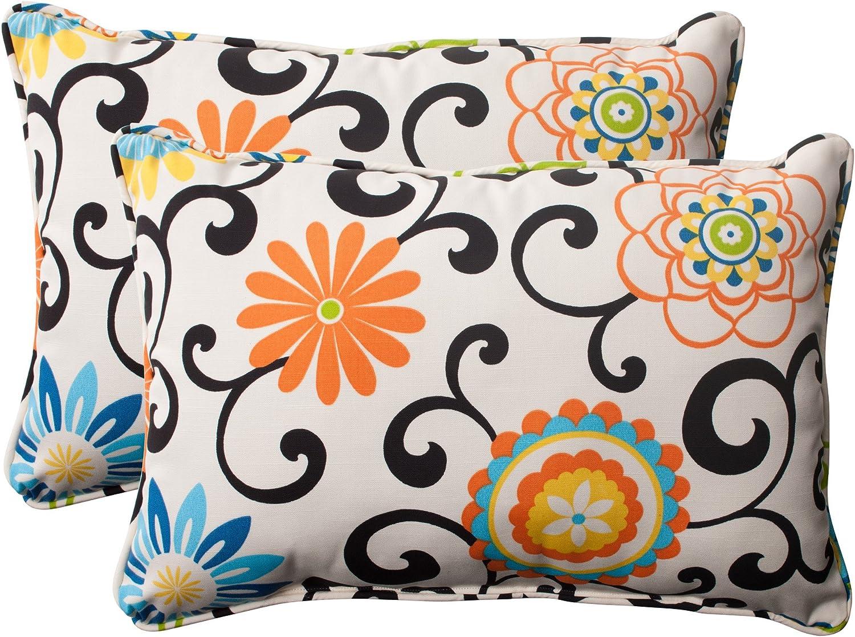 Pillow Max 55% OFF Perfect Outdoor Indoor Pom Play Oversized Lumbar P Virginia Beach Mall Lagoon