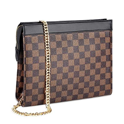 Tophie Checkered Crossbody Bag for Women Clutch...