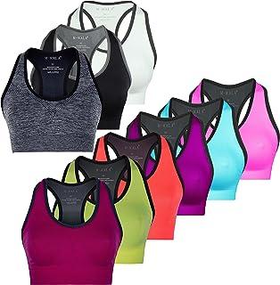 M-Mala Sports Bra Yoga Bralette Pack Removable Padding Shock Absorber Compression