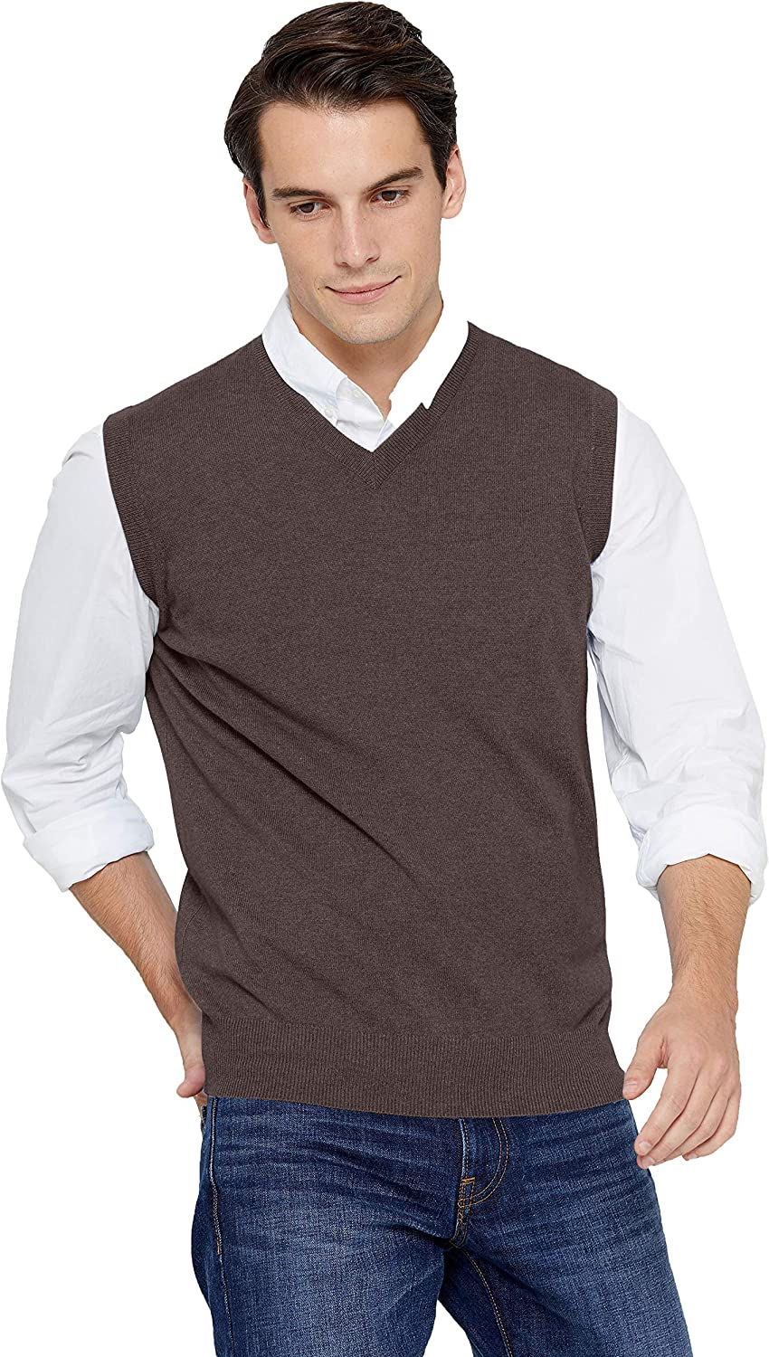 State It is very popular Cashmere Men's Classic Sleeveless Sweater Ranking TOP4 P 100% Vest