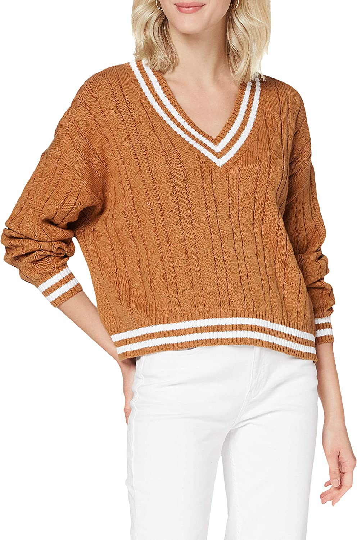 Urban Classics Women Sweatshirt Short 25% OFF College V-Neck New item