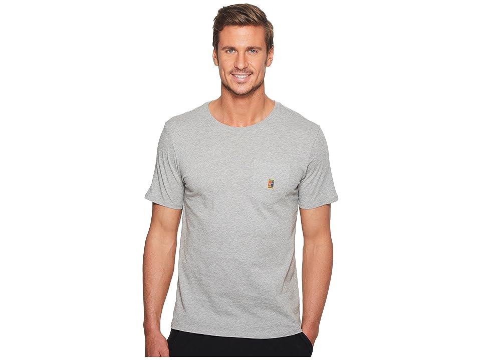 Nike Court Heritage Pocket Tennis T-Shirt (Dark Grey Heather) Men