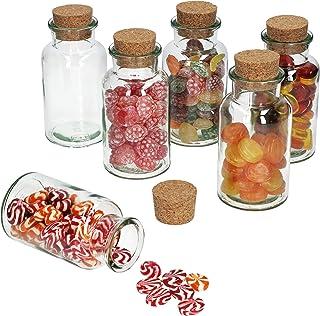 MamboCat - Juego de Vasos de Cristal + tapón de Corcho I Cristal Redondo 300 ml