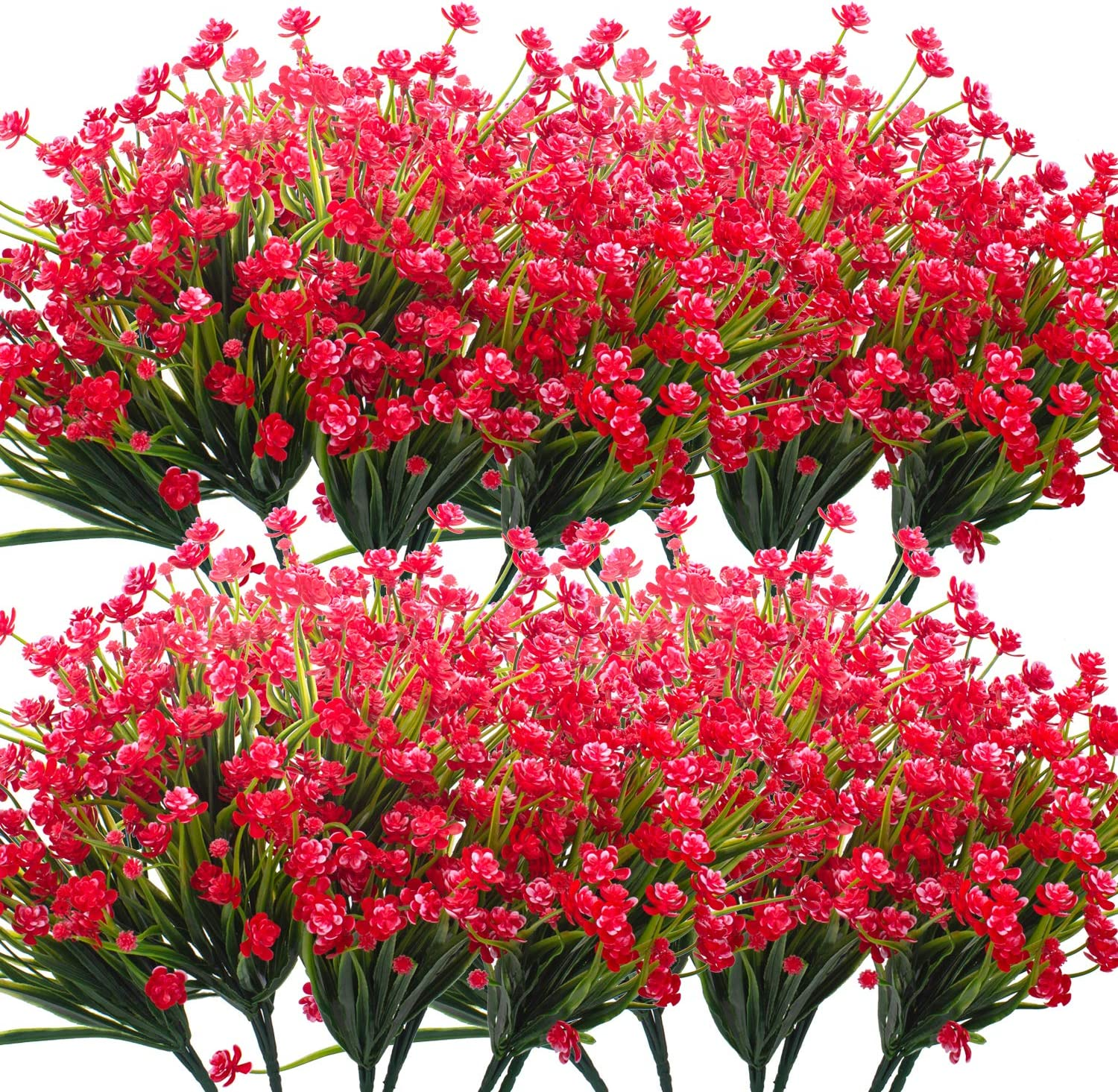 Financial sales sale Grunyia Artificial Flowers 20 Outdoor for Fashion Fake Bundles