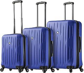Mia Toro Italy Fabbri Hardside Spinner Luggage 3pc Set, Blue