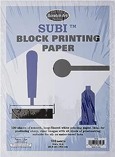 Melissa & Doug Scratch Art Subi Block Printing Paper (9 x 12 inches), White - 100 Sheets