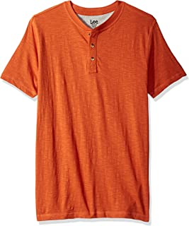LEE Mens Short Sleeve Henley Tee Shirt