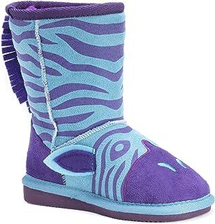 MUK LUKS Kids' Animal Blue Zebra Pull-On Boot