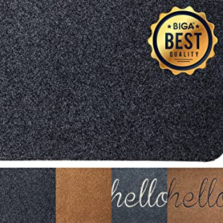 BIGA Front Welcome Entrance Door Mats for Indoor Outdoor Entry Garage Patio High Traffic Areas Shoe Rugs