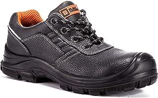 Zapatos de Seguridad para Hombre Sin Metal Nivel S3 SRC Ultraligeros y con Refuerzo Kevlar 2252 Black Hammer Black