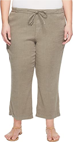 Plue Size Drawstring Ankle Pants in Sergeant Olive