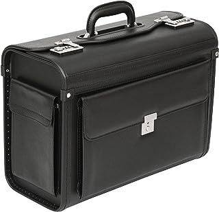 Sponsored Ad – Tassia Executive Leather Look Pilot Case - Front Pocket Lock Protection - Pilotcase Pilot Suitcase, Pilot B...