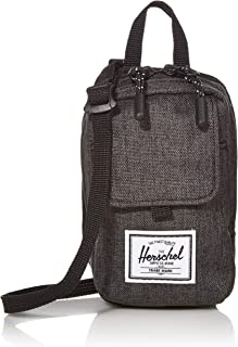 Herschel Form Small Cross Body Bag, Black Crosshatch, One Size