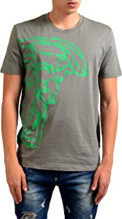 Collection Men's Gray Graphic Short Sleeve T-Shirt US 2XL IT 56;