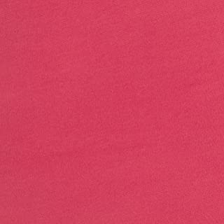 Fabric Merchants Double Brushed Poly Spandex Jersey Knit Bright Coral