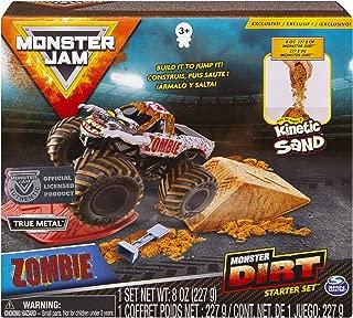 Monster Jam, Zombie Monster Dirt Starter Set, Featuring 8oz of Monster Dirt & Official 1: 64 Scale Die-Cast Truck