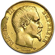 1852 FR - 1860 France Gold 20 Francs Napoleon III (Scruffy) Gold Very Good