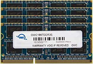 OWC 16GB (2 x 8GB) 1867 MHZ DDR3 SO-DIMM PC3-14900 204 Pin CL11 Memory Upgrade, (OWC1867DDR3S16P)