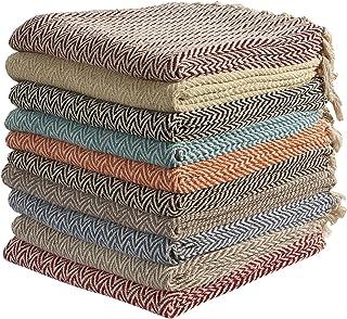 comprar comparacion Mantas de algodón zigzag-zag para sofá, cama de una plaza y silla, 125 x 150cm (color al azar)