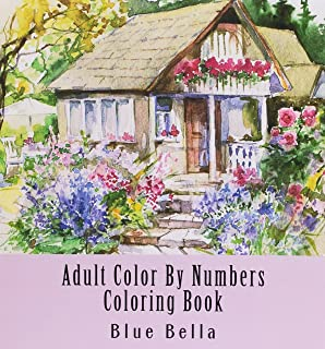 Adult Color By Numbers Coloring Book: Easy Large Print Mega Jumbo Coloring Book of Floral, Flowers, Gardens, Landscapes, A...