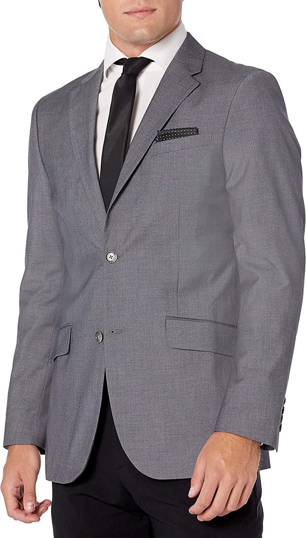 Perry Ellis Men's Slim Fit Plaid Jacket